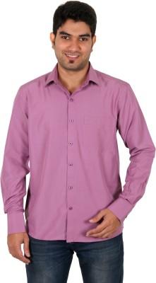 Green Apple Men's Solid Formal Purple Shirt