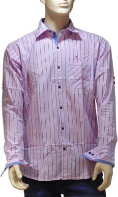 EXIN Fashion Men's Striped Casual Pink, Blue Shirt