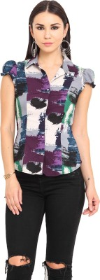 MSMB Women's Printed Casual Multicolor Shirt