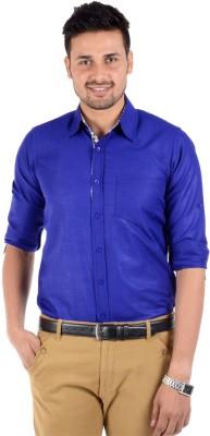 S9 Men's Solid Casual Dark Blue Shirt