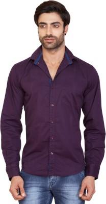 GoPlay Men's Solid Casual Purple Shirt