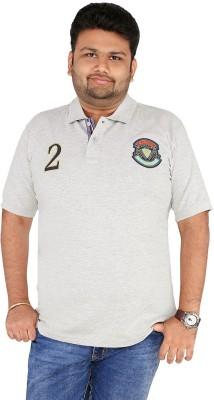 CIROCO Solid Men,s Polo Neck Grey T-Shirt