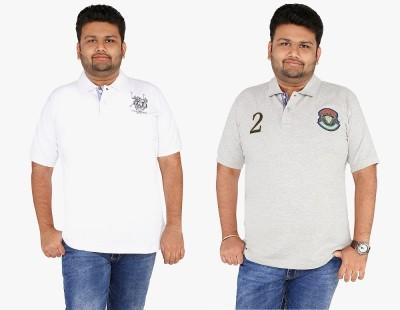 CIROCO Men's Solid Casual White, Grey Shirt