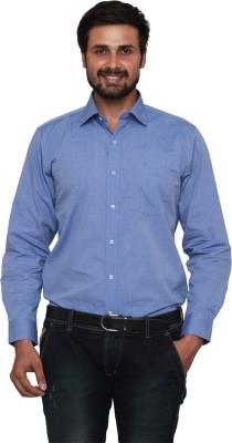 Lee Marc Men's Solid Formal Denim Blue Shirt