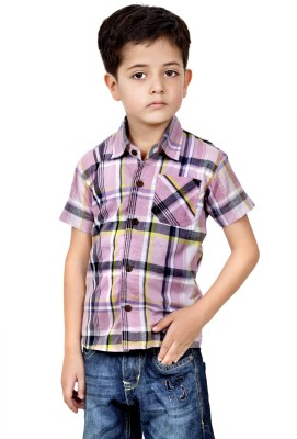 MagPie Baby Boy's Checkered Formal Multicolor Shirt
