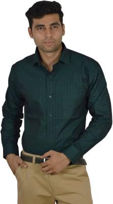 Studio Nexx Men's Polka Print Formal Dark Green Shirt