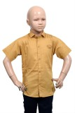 Puppet Nx Boys Solid Casual Gold Shirt