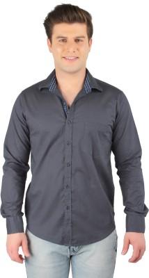 Zoro Auge Men's Solid Casual Linen Grey Shirt