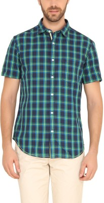 Classic Polo Men's Checkered Casual Green Shirt