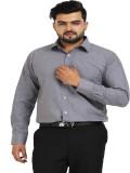 TT Men's Solid Formal Grey Shirt
