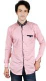 Zrestha Men's Printed Casual Pink Shirt