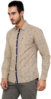 CHRISTIAN FABRE Men's Printed Casual Beige Shirt
