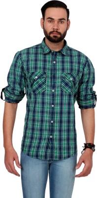 Urban Republic Men's Checkered Casual Green, Blue Shirt