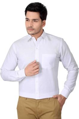Brinley Men,s Solid Formal White Shirt