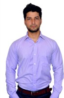 Msj Xiv Formal Shirts (Men's) - MSJ XIV Men's Checkered Formal Purple Shirt