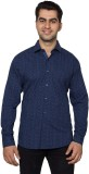 Hancock Men's Printed Casual Dark Blue S...