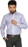 Indian Weller Men's Striped Formal Blue ...