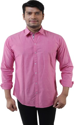 Lee Marc Men's Solid Casual Pink Shirt
