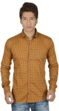 Red Touch Men's Printed Casual Brown Shi...