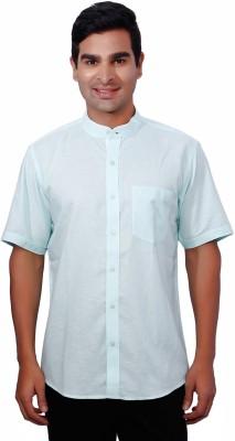 Nanya Men's Solid Casual Light Blue Shirt