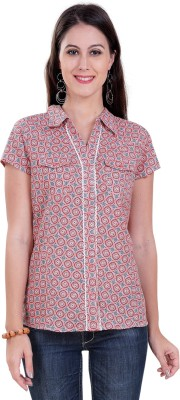 Tantra Women's Geometric Print Casual Multicolor Shirt