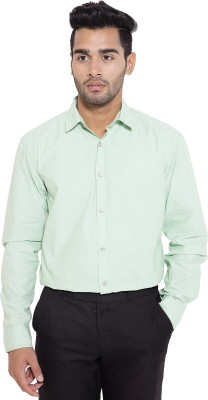Deeksha Men's Solid Formal Green Shirt