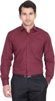John Hupper Formal Shirts (Men's) - John Hupper Men's Solid Formal Maroon Shirt