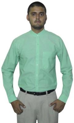 The GreeK Men's Solid Casual Light Green Shirt
