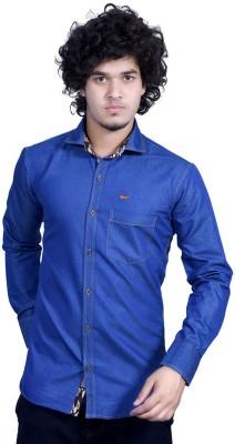Bucci Men's Solid Casual Dark Blue Shirt