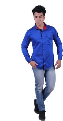 Re Fuel Sport Men's Solid Casual Blue Shirt