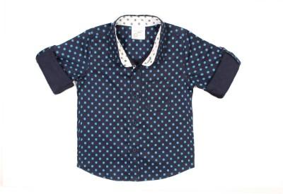 Nahshonbaby Boy's Printed Party Multicolor Shirt