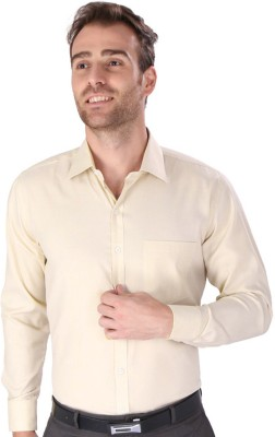 Magson Elite Men's Solid Formal Gold Shirt