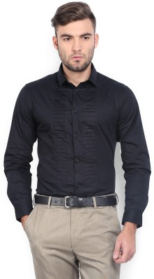 Arrow Newyork Men's Solid Casual Black Shirt