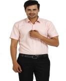 TT Men's Checkered Formal Pink Shirt