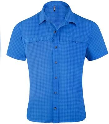 Wildcraft Men's Checkered Casual Blue Shirt