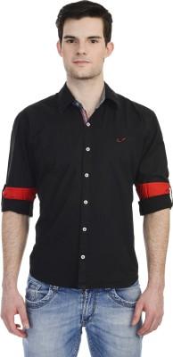 Hekar Men's Solid Casual Black Shirt