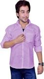 Mc-John Men's Solid Casual Linen Purple ...