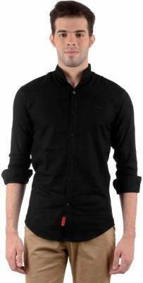 Vitaly Men's Solid Casual Black Shirt