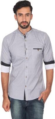 Ashford Brown Men's Printed Casual Grey Shirt