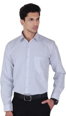Cocablue Men's Checkered Formal Purple, Black Shirt