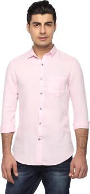 Marc N, Park Men's Self Design Casual Pink Shirt