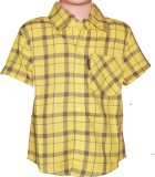 Habooz Boys Checkered Casual Yellow Shir...