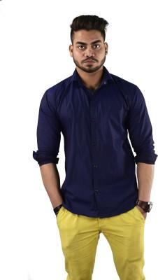 Your Desire Shirts Men's Striped Casual Dark Blue Shirt