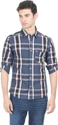 Flippd Men's Checkered Casual Light Blue Shirt