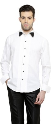 RICHARD COLE Men's Solid Formal White Shirt