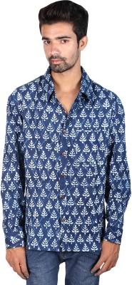 Rajrang Men's Printed, Floral Print Casual Blue Shirt