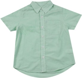 The Children's Place Boys Solid Casual Green Shirt