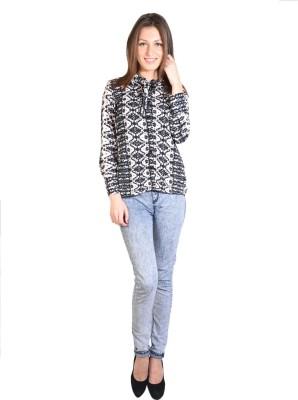 Oshea Women's Printed Casual Beige Shirt
