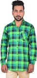 Lime Time Men's Checkered Casual Multico...
