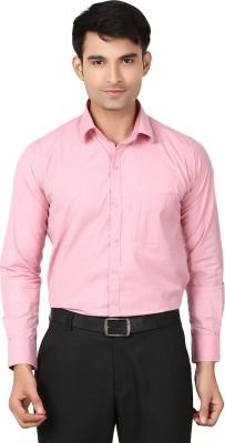 VAPE Men's Solid Casual Pink Shirt